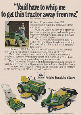 1978 John Deere: Whip Me to Get This Tractor Away Vintage Print Ad