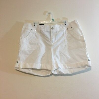 I-N-C International Concepts womens shorts white size16 curvy fit New with tags