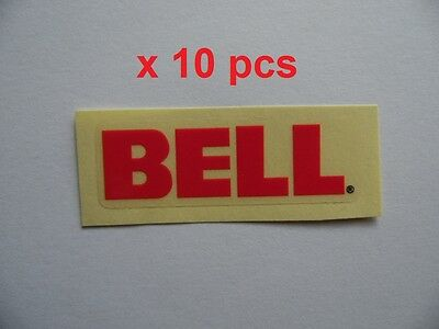 """DT swiss 3/"""" x 0.75/"""" white letters on red  background die cut sticker x 10pcs"""