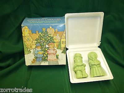 Vintage Avon Christmas Carollers shape 2 special occasion fragranced soaps