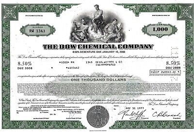 The Dow Chemical Company, 8,55% Debenture due 2006, 1977 (1.000 $)