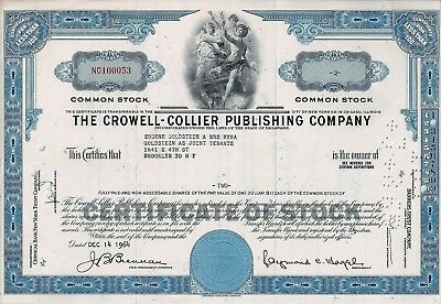 The Crowell - Collier Publishing Company, Delaware, 1964  (2 Shares)