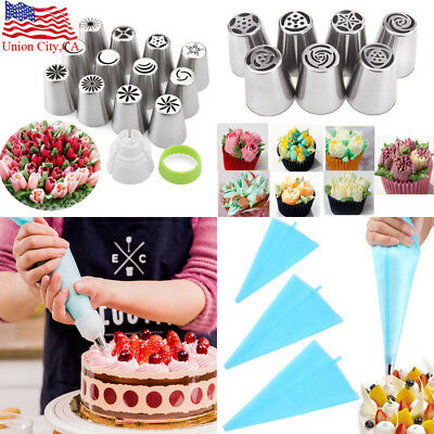 DIY Russian Tulip Flower Cake Icing Piping Nozzles Decorating Tips Baking Tools