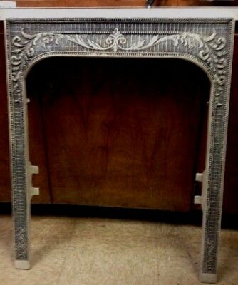 Antique Cast Iron Fireplace Surround Antiqued One Of A Kind!!!! ***sale***