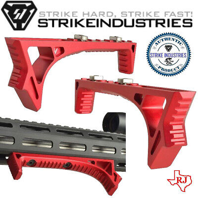 Strike Industries LINK Curved Angled Fore Grip Fits BOTH KeyMod & M-LOK RED