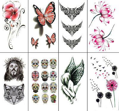 High Quality Temporary Fake Tatto Designs Cool Waterproof Body Art Party Sticker
