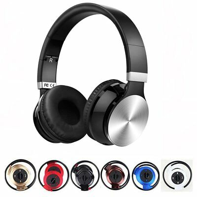 Noise Cancelling Wireless Bluetooth Headphone Mic-Headsets Earphone Over The Ear