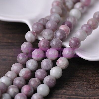Bulk Lot Lilacs Natural Stone Gemstone Round Loose Spacer Beads 4mm 6mm 8mm 10mm