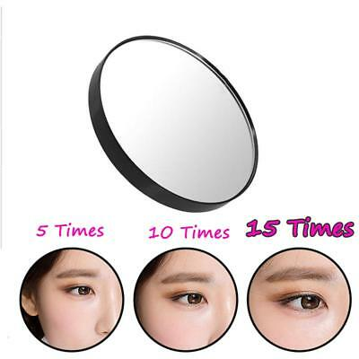 """15X Magnifying Mirror 3.5"""" Suction Cup Makeup Face Bathroom Travel Glass"""