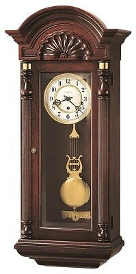 Howard Miller 612-221 Jennison - Traditional Cherry Chiming Wall Clock 612221