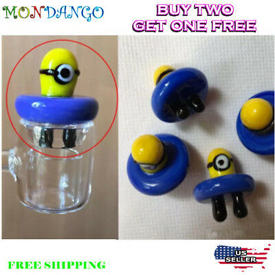 Minions Style Solid Colored Glass Carb Cap - Fits Most Sized Bangers