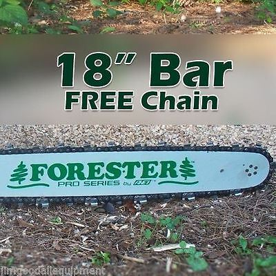 "18"" Forester Bar W/Free Chain,Fits Stihl MS250, 325 pitch, 063 gauge, 68 link"