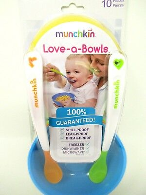 Munchkin Love-a-Bowls 10 Piece Feeding Set Bowls and Spoons