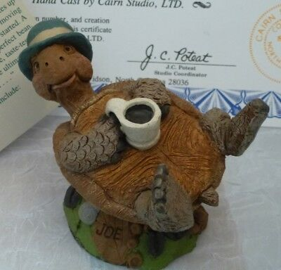 "Tim Wolfe Cairn Turtle ""Joe"" Edition #38 w coffee cup COA/Story free shipping"