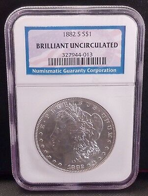 1882-S Morgan Silver Dollar NGC Brilliant Uncirculated