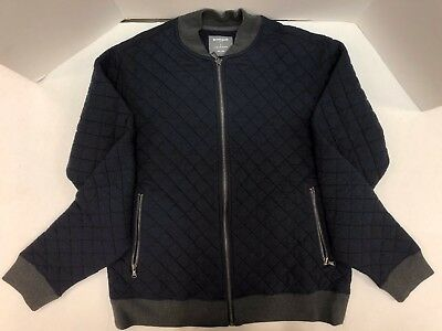 BONOBOS Crosstown Founder Quilted Bomber Navy Large Slim Fit