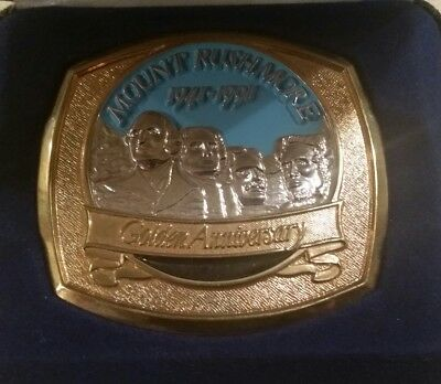 Mount Rushmore Golden Anniversary Limited Edition Belt Buckle & case #1544