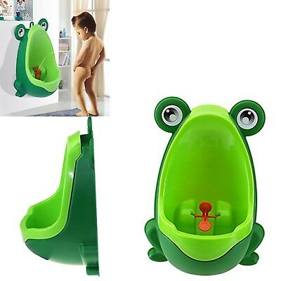 Baby Potty Training Boys Toilet Urinal Green Frog With Whirling Pee Target NEW