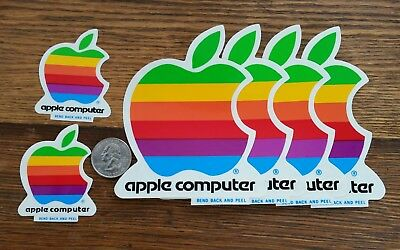 Lot of Vintage Collectible Apple Computer Stickers -Unused