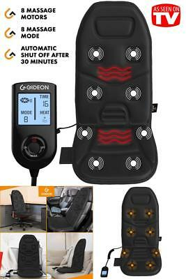 Back Massage Heated Chair Cushion Massager Car Seat Home Pad Pain Lumbar Neck US