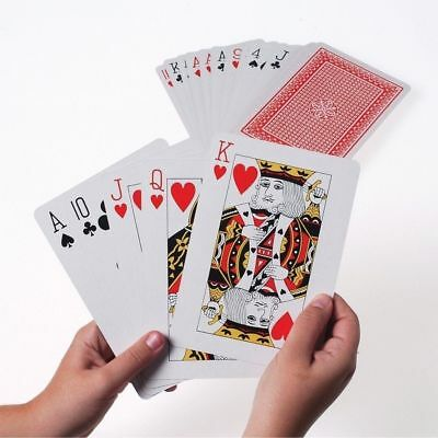 Jumbo Giant Playing Cards Deck Plastic Coated Great Family Friend Play Party Fun