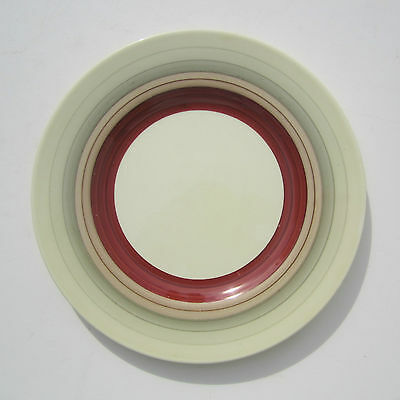 """SUSIE COOPER Salad Plate WEDDING BAND D9"""" Banded Hand Painted 1933 Art Deco"""