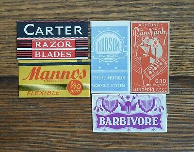 Lot of 5 Vintage Foreign Made Double Edge Safety Razor Blades
