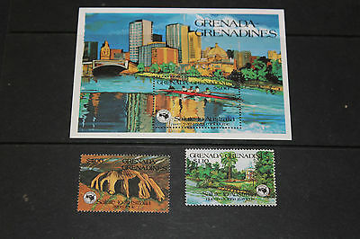 Grenada Grenadines1984 Ausipex Minature Sheet & Set  Of 2  Fine M/n/h Cond