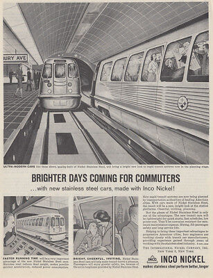 1961 Inco Nickel: Brighter Days Coming for Commuters Vintage Print Ad