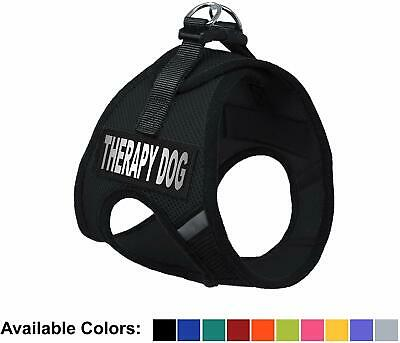 Therapy Dog Nylon Mesh Easy Step-In Padded Soft Puppy Pet Dog Harness