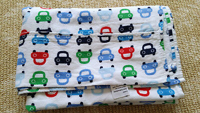 Kids Baby Cars Printed Cotton Flannelette Cot Crib Flat sheet