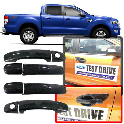 For Ford Ranger T6 Mk2 Px2 2012-2017 Carbon Kevlar Cover Door Handle 4 Doors