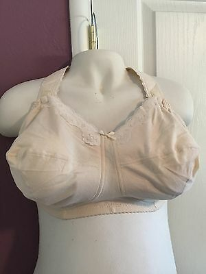 Fancee Free 94305 Softcup Extra Support Nursing Bra 42 G Beige Cream Cotton