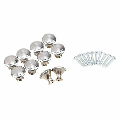 10pcs Stainless Cupboard Cabinet Dresser Drawer Wardrobe Door Knobs Handle Pull