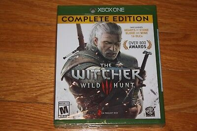 Brand New Sealed Xbox One Witcher 3: Wild Hunt Complete Edition SHIP FREE US