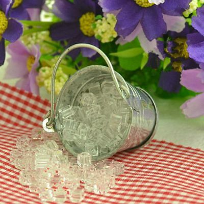 Kitchen Home Miniature Ice Cube Dollhouse Accessories Iron Pail
