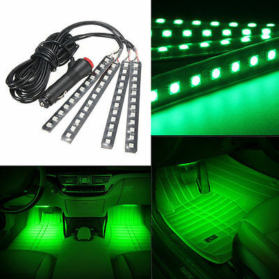 2x12 led car suv interior footwell floor decor atmosphere light neon strip white cad. Black Bedroom Furniture Sets. Home Design Ideas