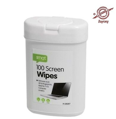 100x Screen Cleaning Wet Wipes Laptop LED TV Computer iPad Monitor Cleaner New