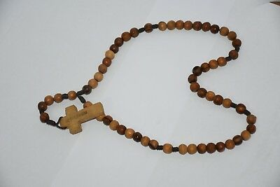 A very Old Prayer Rosary Made BY Hand of Olive Wood from the Holy Land