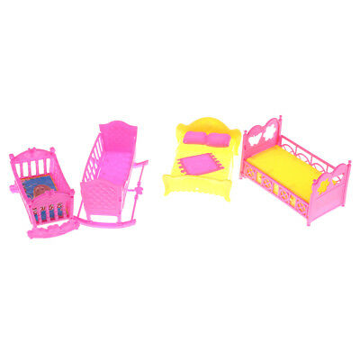 Doll Furniture Rocking Cradle Bed for Barbie Kelly Doll Accessories Girls Gift~!