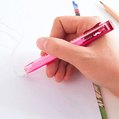 Quality Pencil Eraser in Pen Shaped Barrell Rubber for Artists, School HOT.