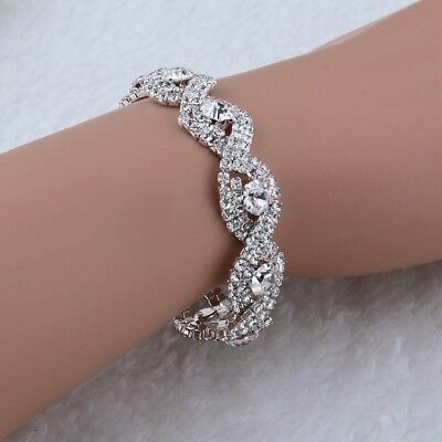 Crystal Bracelet, Swarovski Crystal, Rhinestone Bracelet For Wedding, Bride