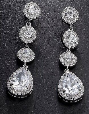 Wedding Bridal Yellow Gold Crystal, Earrings & Necklace Set For Bride,