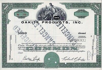 Oakite Products Inc., New York  (Blankette / not issued)