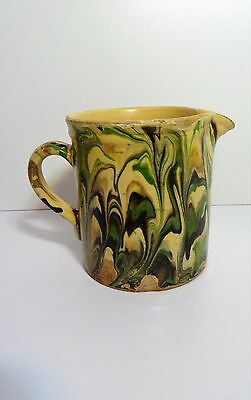 Ancien Pot Pichet terre vernissée poterie de Savoie Sciez art pop Pitcher jug