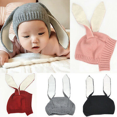 Baby Hat Kids Knitted Cap Crochet Rabbit Long Ear Hat Bunny Beanie Caps