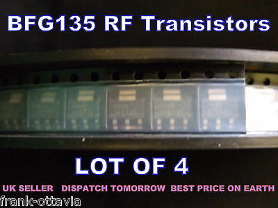 RF Amplifier Transistors  BFG-135   LOT OF 4  - Genuine Philips