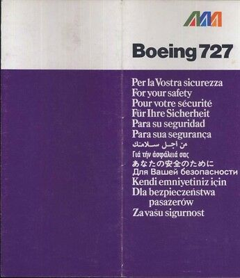 good cond sc488 aa 64502021 Alitalia A-321 Airline safety card