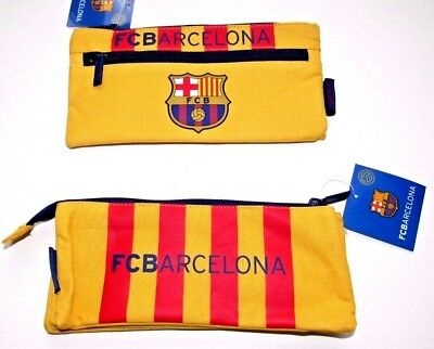 FC Barcelona Official Pencil Case Large / Small Double Or Single