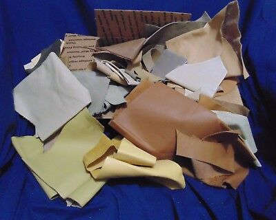 Leather Pieces - Scraps - Crafts/model Horse Tack - Lt Brown, Many Shades Colors